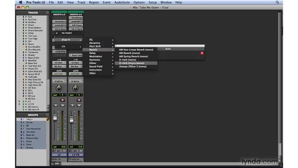 Using inserts and plug-ins: Mixing and Mastering with Pro Tools