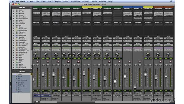 Submixing with aux tracks: Mixing and Mastering with Pro Tools