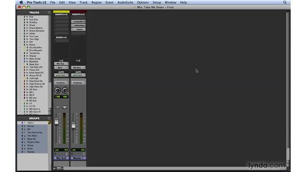 Using master faders effectively: Mixing and Mastering with Pro Tools