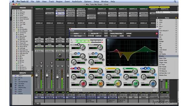 EQ workflow example 1: Kick drum: Mixing and Mastering with Pro Tools