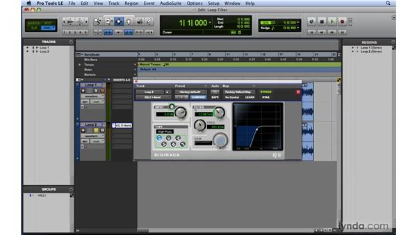 EQ workflow example 2: Filtering loops: Mixing and Mastering with Pro Tools