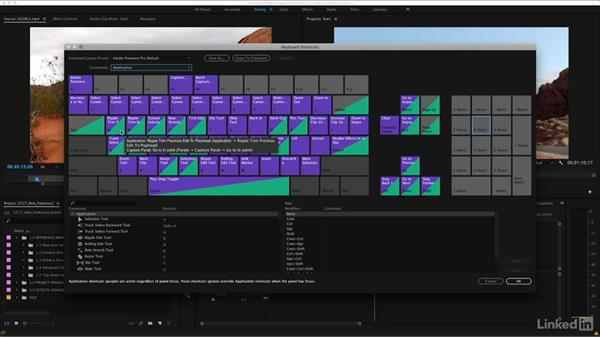 Using a visual keyboard for layout: Premiere Pro CC 2017: New Features