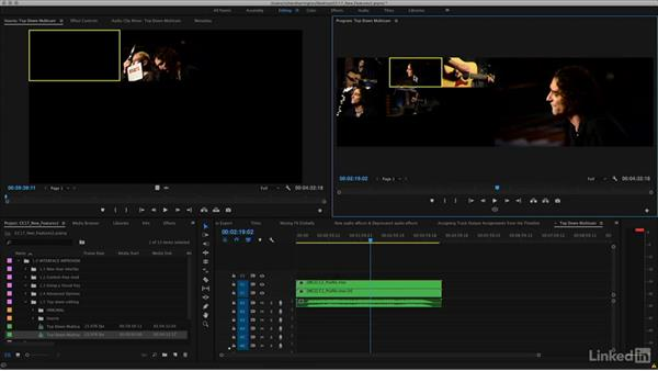 Top-down editing for multicam tracks: Premiere Pro CC 2017: New Features