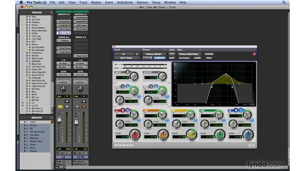 "EQ workflow example 3: The ""telephone"" effect: Mixing and Mastering with Pro Tools"