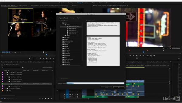 Creating a sequence preset from an already created sequence: Premiere Pro CC 2017: New Features