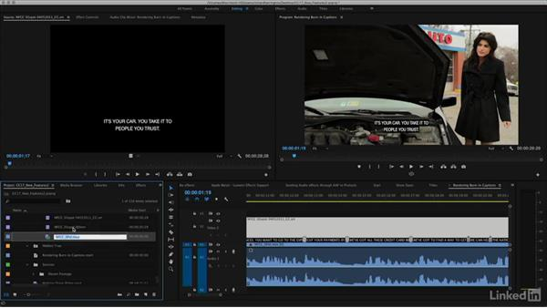 Improvements to closed and open captions: Premiere Pro CC 2017: New Features