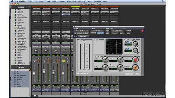 Using the DigiRack Dyn III compressor/limiter: Mixing and Mastering with Pro Tools