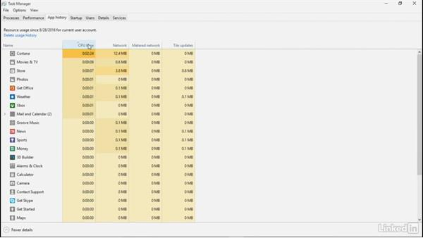 Monitor performance with Task Manager: Windows 10: Manage and Maintain Windows 10