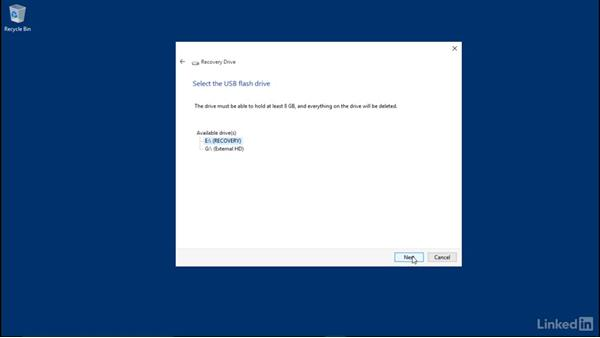 Create a recovery drive: Windows 10: Manage and Maintain Windows 10