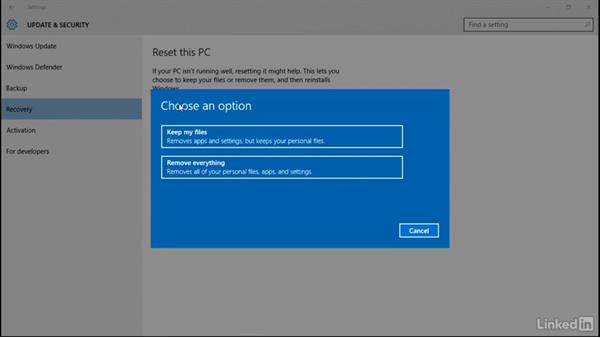 Perform a refresh or recycle: Windows 10: Manage and Maintain Windows 10