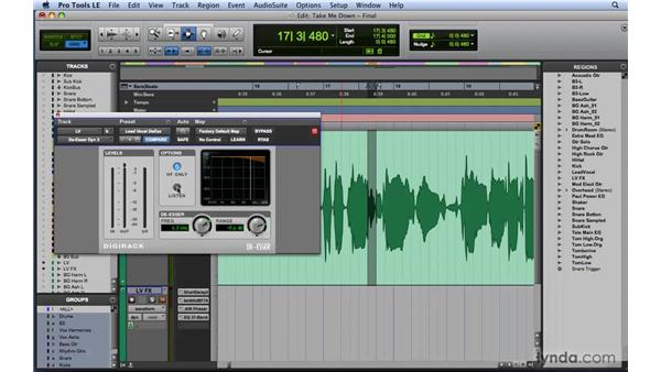 Using de-essers to eliminate sibilance: Mixing and Mastering with Pro Tools