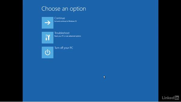 Recover the OS with Windows Recovery: Windows 10: Manage and Maintain Windows 10