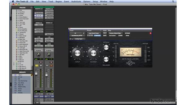 Dynamics workflow example 1: Vocals: Mixing and Mastering with Pro Tools