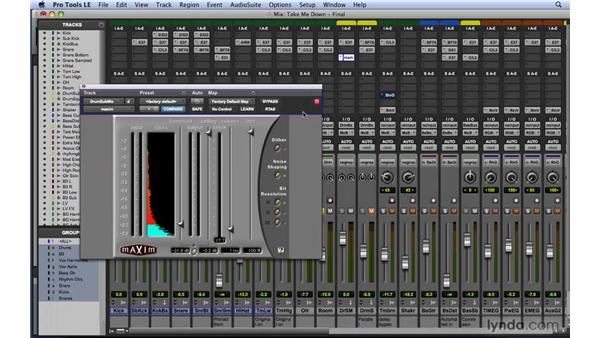 Reviewing dynamics concerns: How much is too much?: Mixing and Mastering with Pro Tools