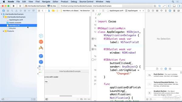 Troubleshoot broken connections: Xcode 8 Essential Training