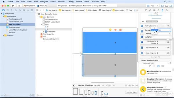 Modify pins: Xcode 8 Essential Training