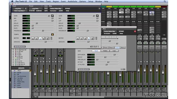 Using time-based effects to add depth and width: Mixing and Mastering with Pro Tools