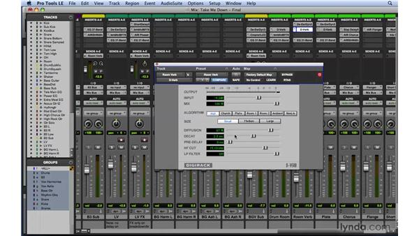 Using DigiRack D-Verb: Mixing and Mastering with Pro Tools