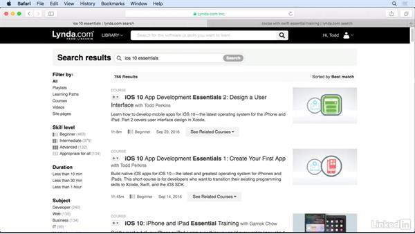 Next steps: Xcode 8 Essential Training