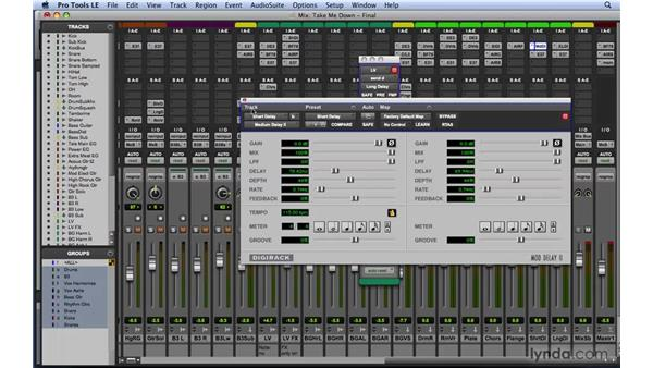 Mixing with delays: Mixing and Mastering with Pro Tools