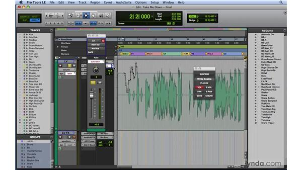 Recording real-time automation moves: Mixing and Mastering with Pro Tools
