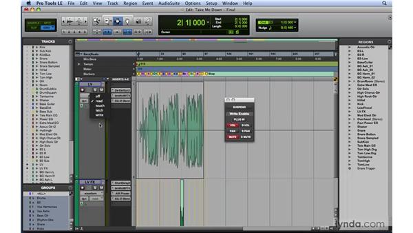 Viewing and editing automation: Mixing and Mastering with Pro Tools