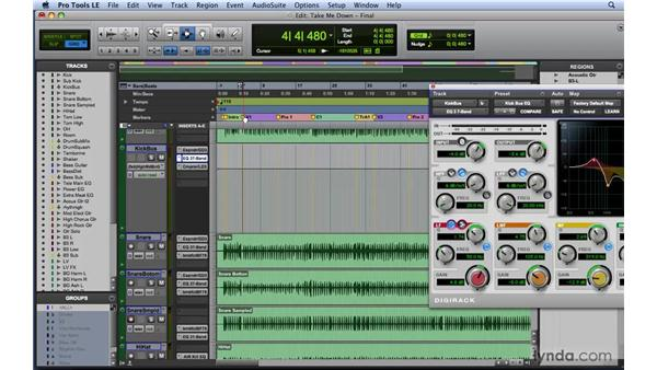 Automating plug-ins: Mixing and Mastering with Pro Tools