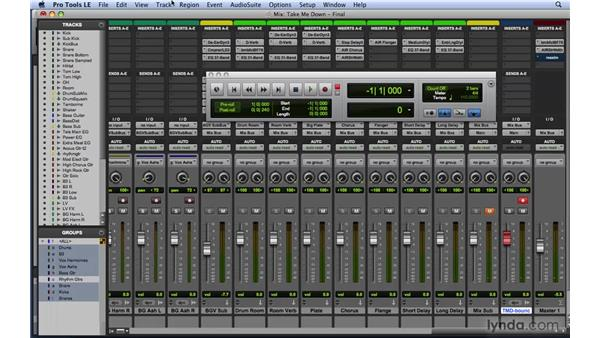 Bouncing the mix: Mixing and Mastering with Pro Tools
