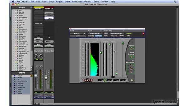 Using limiting and compression to maximize track level: Mixing and Mastering with Pro Tools