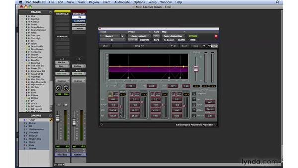 Working with multi-band compression: Mixing and Mastering with Pro Tools