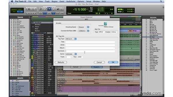 Compressing audio for the web: Mixing and Mastering with Pro Tools