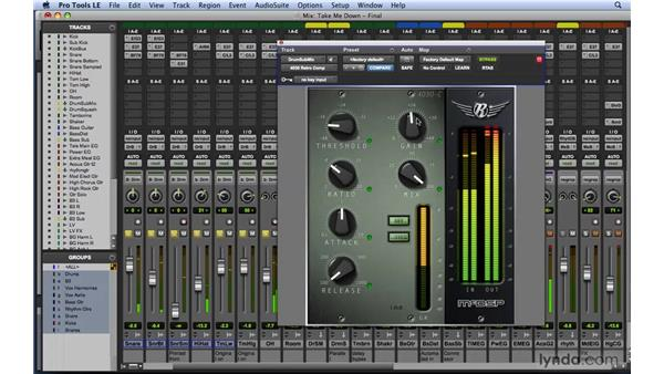 Using dynamic compression plug-ins: Mixing and Mastering with Pro Tools