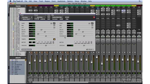 Using reverb and delay plug-ins: Mixing and Mastering with Pro Tools