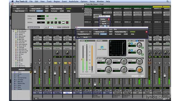 Setting up side chains: Mixing and Mastering with Pro Tools