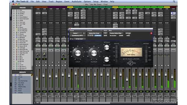Master buss processing: Mixing and Mastering with Pro Tools