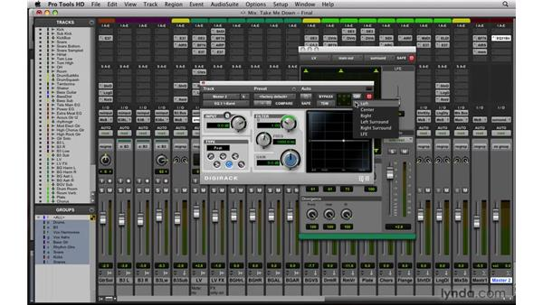Surround mixing: Mixing and Mastering with Pro Tools