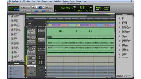 Drum sample replacing: Mixing and Mastering with Pro Tools
