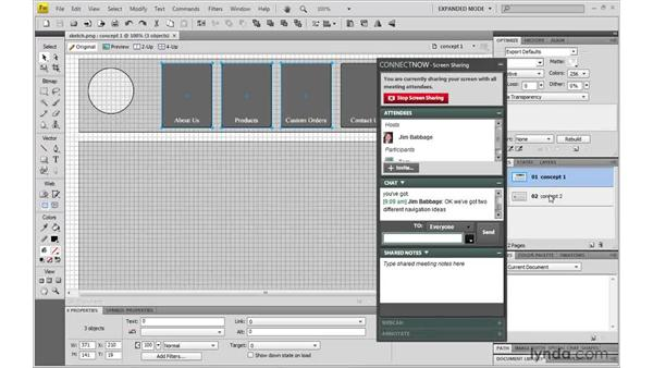 Using Share My Screen: Fireworks CS4: Rapid Prototyping