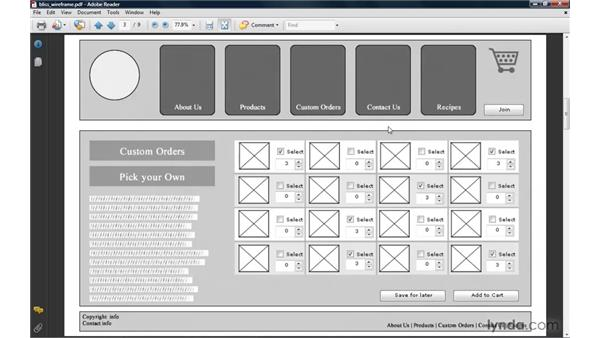 Using PDFs for wireframe and design feedback: Fireworks CS4: Rapid Prototyping