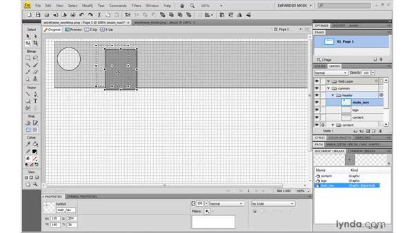 Creating a wireframe: Fireworks CS4: Rapid Prototyping