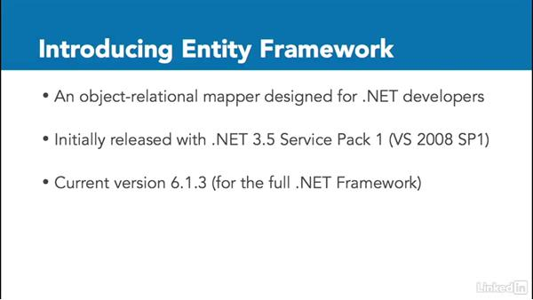 Welcome: Getting Started with Entity Framework 6.1.3