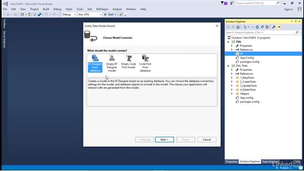 Install tools, add context, and models: Getting Started with Entity Framework 6.1.3