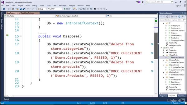 Unit test framework: Getting Started with Entity Framework 6.1.3
