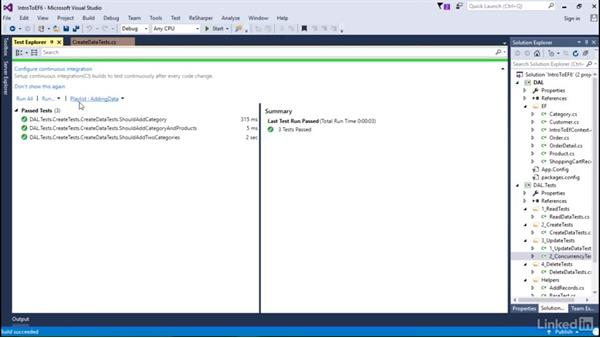 Create data: Getting Started with Entity Framework 6.1.3