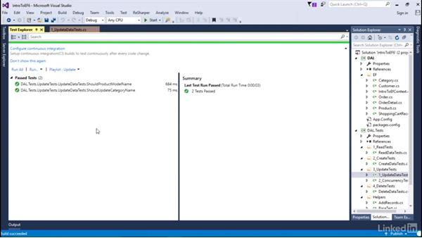 Update data: Getting Started with Entity Framework 6.1.3