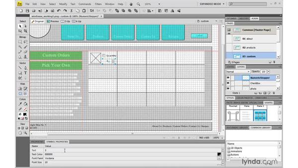 Creating an order form: Fireworks CS4: Rapid Prototyping
