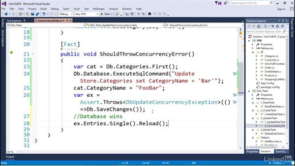 Concurrency: Getting Started with Entity Framework 6.1.3