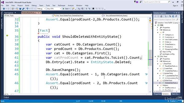 Delete data: Getting Started with Entity Framework 6.1.3