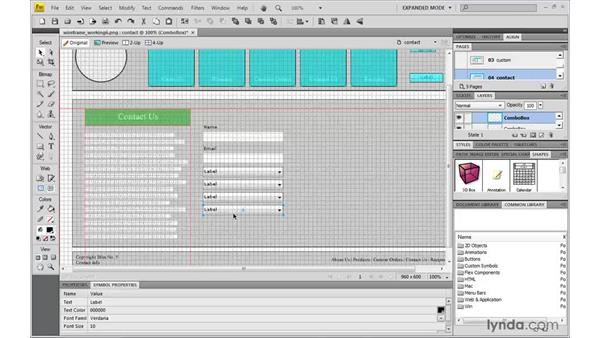 Building a contact form: Fireworks CS4: Rapid Prototyping