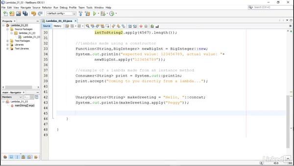 Methods as lambdas: Lambda Expressions in Java